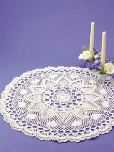Crochet - Pineapples - Romantic Pineapples Doily