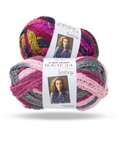 Boutique Sashay is a unique kind of yarn with a touch of metallic that creates beautiful ruffle scarves and accessories with just one ball.