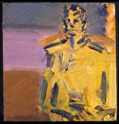 Frank Auerbach - Jake Seated 2007-8, 2007-2008  oil on board  48.3 x 46 cm.(19 x 18 1/8 in.)