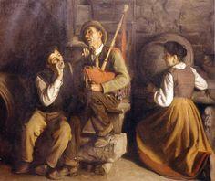 Manuel Medina Diaz. La tonada, 1910. Pintores asturianos