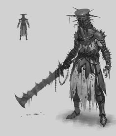 This guy is a cursed knight by black magic. Fantasy Character Design, Character Design Inspiration, Character Concept, Character Art, Concept Art, Fantasy Armor, Dark Fantasy Art, Dark Art, Fantasy Monster