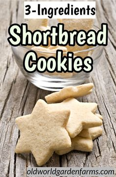 3 Ingredients Shortbread Cookies - these cookies are so easy to make and perfect for the cookie trays! Made with just 3 simple ingredients and are a perfect addition to any Christmas Cookie Tray! Cut Out Cookie Recipe, Sugar Cookie Recipe Easy, Chewy Sugar Cookies, Easy Cookie Recipes, Cookies Et Biscuits, Easy Shortbread Cookie Recipe, Cookie Icing, 3ingredient Peanut Butter Cookies, Short Bread Cookies Easy