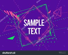 Abstract geometric triangle and lines colorful vector background