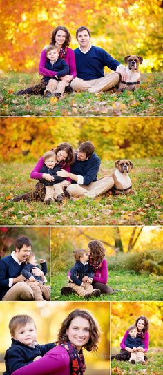Athens, GA family photography by Yvonne Niemann results in beautiful fall portraits.