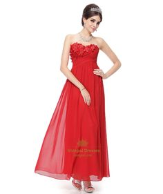 136.00$  Buy here - http://vinqg.justgood.pw/vig/item.php?t=lvl7lnz56366 - Long Red Sweetheart Prom Dress With Flowers On Top,Red Prom Dresses Open Back