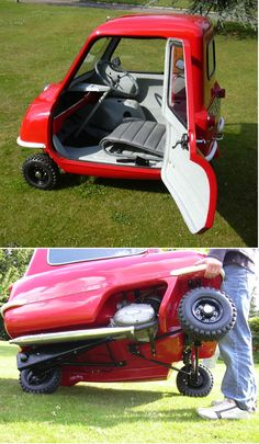 1966 PEEL P 50 -Worlds smallest production vehicle Seats 'ONE' no 'reverse' gear but is equipped with a handle on the back to turn it around in the direction you want it to go!