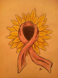 Sunflower/Breast Cancer tattoo    Hand drawn by Jake Hamilton