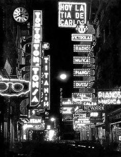 Calle Florida, Buenos Aires - 8:00 PM - año 1936