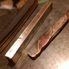 In-house Mokume Gane process photo from Art Metals Studio in Racine, WI.