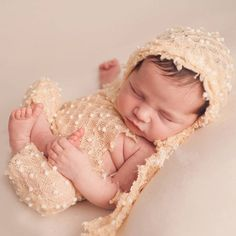 Elástico Elástico de Punto Bebé Apoyos de la Foto de Punto de Mohair Suave Del Casquillo Del Sombrero y Pantalones Traje Newborn Fotografía Atrezzo ZQY005