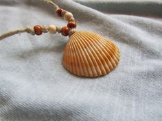 Sea Shell Necklace with Hemp Cording and Wooden by FruFruDesign, $15.00