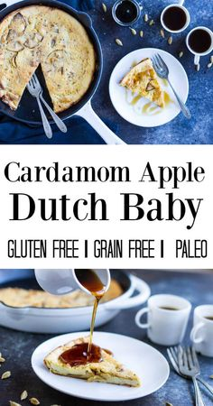 Imagine a big, hot, fluffy pancake with sweet baked apples and the warm smell of cardamom. Top it with some real maple syrup.