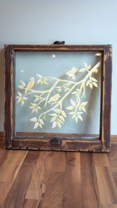 """Hand painted old windows - idea for """"window"""" frame I have. Antique Windows, Vintage Windows, Old Windows, Recycled Windows, Porch Windows, Old Window Frames, Window Art, Window Ideas, Window Panes"""