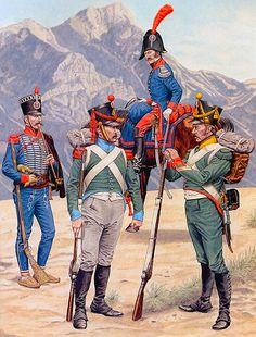 """Turkish Border & Tyrol Campaign: • NCO, Dalmatian Pandours, 1810-14 • Carabinier, Royal Istrian Bn; Tyrol, 1809 • Second-lieutenant, Dalmatian Pandours, 1810-14 • Corporal of Voltigeurs, Royal Dalmatian Regt; Tyrol, 1809"", Darko Pavlovic"