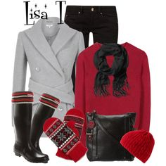 It's Snowing.....A Lot!!!, created by lkthompson on Polyvore