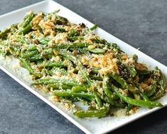 Roasted Green Beans with Garlic, Lemon, Pine Nuts & Parmigiano-Reggiano TESTED & PERFECTED RECIPE – These green beans, with their delicious combination of flavors & textures, look impressive & are easy to prepare ahead. Vegetable Side Dishes, Vegetable Recipes, Vegetarian Recipes, Cooking Recipes, Healthy Recipes, Veggie Side, Vegetable Salad, Yummy Recipes, Salad Recipes