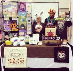 Nekocon artist alley 2014, sharing a booth with Puck 'n' Khaos.