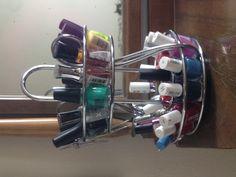 Old spice rack = new nail polish rack