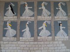Bílá paní na hradbách - z papírového kapesníku