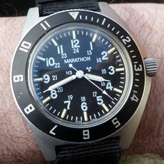 Marathon Gallet USAF Pilot Navigator Watch Issued to US Air Force and Navy Pilots during Desert Storm, Gulf War. Dated 1990