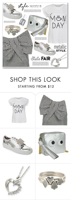 """""""monday in love"""" by nanawidia ❤ liked on Polyvore featuring Ally Fashion, Marc by Marc Jacobs, Acne Studios, Anya Hindmarch, Sian Bostwick Jewellery and Essie"""