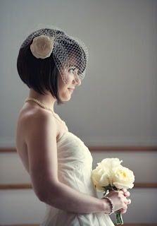 Short hair on wedding day