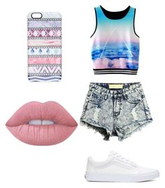 """""""Untitled #36"""" by tiaaarnaxo ❤ liked on Polyvore featuring Vans, Casetify and Lime Crime"""