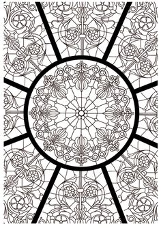 Art-thérapie : l'art du vitrail, 100 coloriages anti-stress: Amazon.de: Sophie Leblanc: Fremdsprachige Bücher