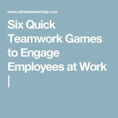 Team exercises improve communication and motivation among workers, Here are six quick games to help encourage teamwork and communication in the office. Teamwork Activities, Fish Activities, Team Building Activities, Building Ideas, Quick Team Building Games, Icebreaker Activities, Happy Employees, How To Motivate Employees, Customer Service Week