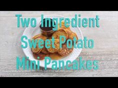 Just sweet potato and eggs make these healthy little 2-ingredient Sweet Potato Pancakes! You will be amazed.