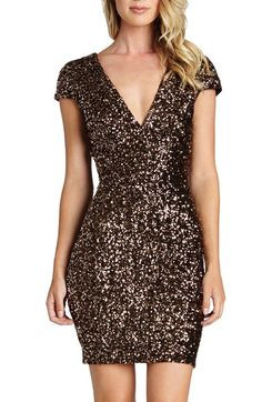 Dress the Population Zoe Sequin Minidress  ecb373225df3
