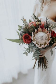 Wedding Flower Trends 20 Protea Wedding Bouquets- wedding bouquet with protea - Bouquet De Protea, Flor Protea, Protea Flower, Protea Wedding, Floral Wedding, Bouquet Wedding, Elegant Wedding, Wedding Photography