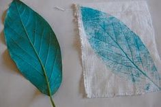 Leaf printmaking