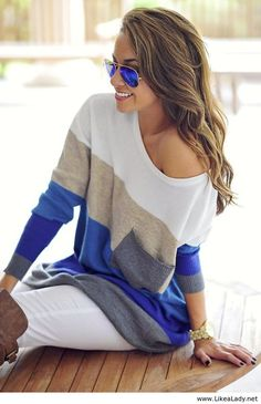 Love these color block shirts