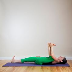 Pin for Later: You'll Want to Unroll Your Mat For This Happy Hips Yoga Sequence Half Happy Baby