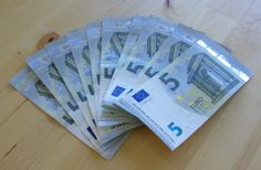 Geldscheine in kleiner Stückelung eigenen sich besonders gut