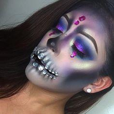 Rhinestone Skeleton Halloween Ideas | POPSUGAR Beauty