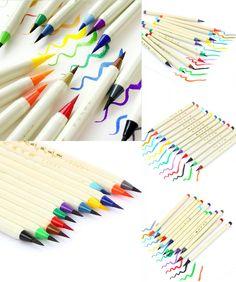 [Visit to Buy] Platinum 12 colors pack coloring brush pen, comics / manga watercolor brush pen, illustration /design color markers #Advertisement