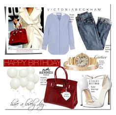 """""""Happy Birthday @arethaman: Casual Look"""" by nfabjoy ❤ liked on Polyvore"""