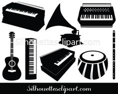 Varieties of musical instruments added to this Musical Instrument Vector Graphics such as guitar, keyboard, tabla etc. Ideal for music vector graphics. Music Silhouette, Silhouette Vector, Silhouettes, Infused Water Bottle, Self Massage, Typo Logo, Envelope, Fitness Gifts, Cool Gadgets