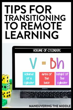 Transitioning to remote learning will be a challenge for all students and teachers, but we can do this together. Here are 5 remote learning tips for you! Learning Apps, Learning Resources, Teacher Resources, Teaching Tips, Dissertation Motivation, Math Websites, 8th Grade Math, Middle School Teachers, Flipped Classroom