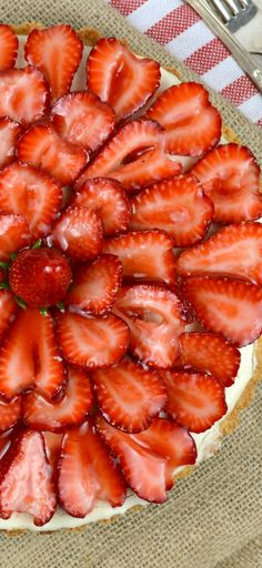Strawberry White Chocolate Mousse Tart- This tart has an amazingly rich, creamy white chocolate mousse with just the right amount of sweetness, inside a thick buttery shortbread cookie crust, then it's all topped with juicy sliced strawberries and a lovely strawberry glaze! Ahhhh YUM!