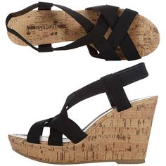 Womens Montego Bay ClubWomen's Portia High Wedge Sling. Got 'em in black, red, blue, and white!