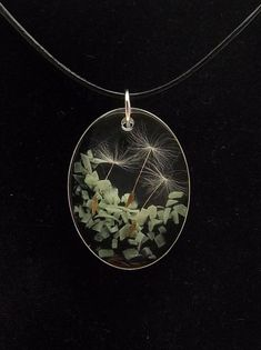 Handmade glow in the dark dandelion clock resin necklace Resin Jewellery, Leaf Jewelry, Resin Necklace, Pendant Necklace, Dandelion Clock, Galaxy Planets, Dark Moon, The Darkest, Glow