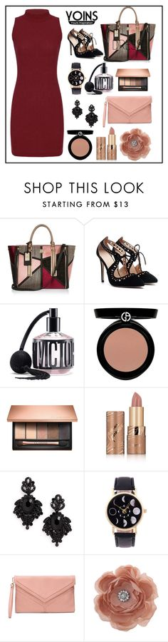 """""""have a rest!"""" by pengminjie ❤ liked on Polyvore featuring River Island, Victoria's Secret, Giorgio Armani, Clarins, tarte, Tasha and Miss Selfridge"""