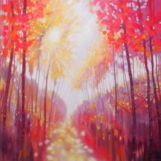 LARGE ORIGINAL Oil Painting - Autumn Triggers - a semi abstract woodland autumn landscape by SussexPaintings on Etsy Art Paintings For Sale, Modern Art Paintings, Landscape Paintings, Original Paintings, Landscapes, Landscape Art, Impressionist Paintings, Impressionism, Oil Paintings
