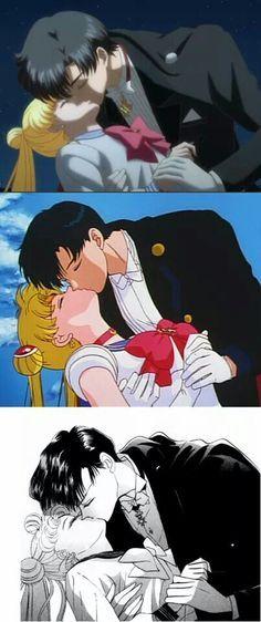 Sailor moon and tuxedo mask- Crystal, anime, manga