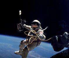 Spacewalk on Gemini flight, from NASA