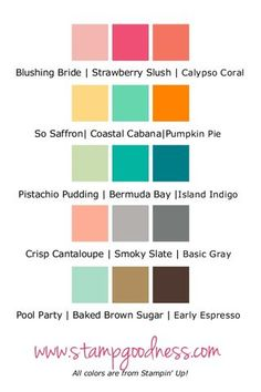 Five Combos 6-7-13-001 - already envisioning quilts using #2 (bright for kids) and #3 (for the beach room!)