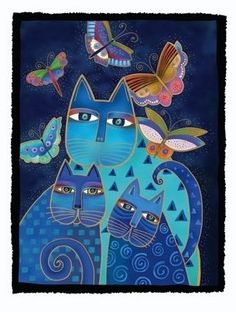 The blue cats have always been my favorite of Laurel Burch's subjects.